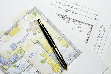 Grundrisse mit Füller