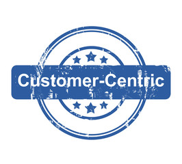 Customer Centric business concept stamp