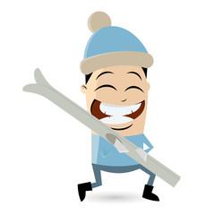 ski blau mann wintersport