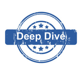 Deep Dive business concept stamp