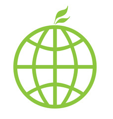 Eco green global icon