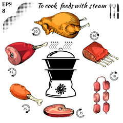 To cook  foods with steam 5