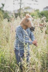 horse mask absurd man