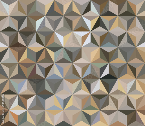 Brown Seamless Triangle Abstract Background © romir2013