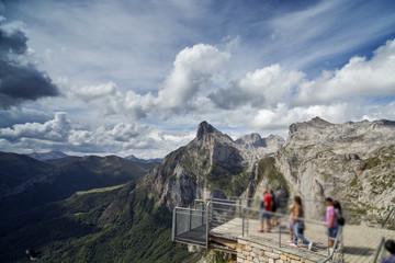 mountains in the picos de europa, spain
