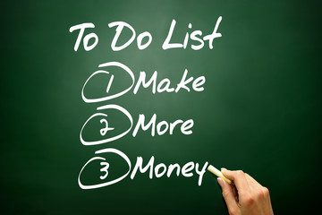 Make More Money in To Do List on blackboard