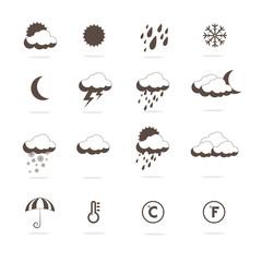 Weather icons. Isolated