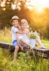 Cute kids in love