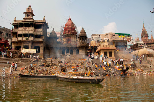 City on the water India, Varanasi, Ganges River