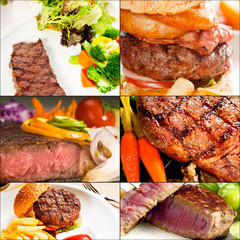 beef dishes collage