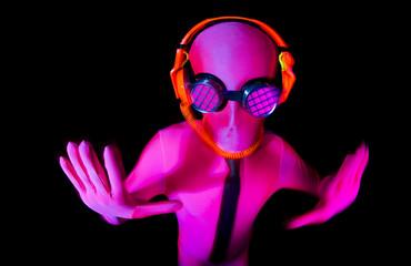 neon glow suit man