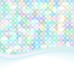 bright soft colorful geometrical background with swoosh wave