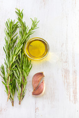 rosemary with oil and garlic