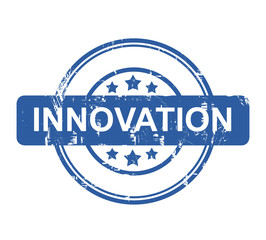 Innovation business concept stamp