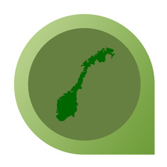 Isolated Norway map marker pin