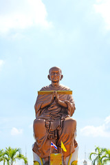 A Big Buddha in Wat Bot Temple ,Pathum Thani , Thailand.