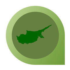 Isolated Cyprus map marker pin