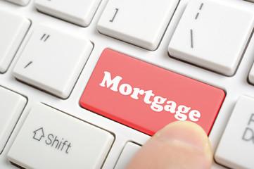 Pressing mortgage key on keyboard