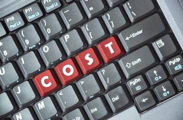 Cost key on keyboard