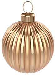 Christmas ball gold decoration glossy golden