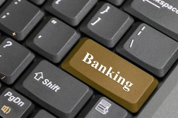 Brown banking on keyboard