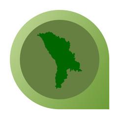 Isolated Moldova map marker pin