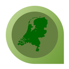 Isolated Netherlands map marker pin