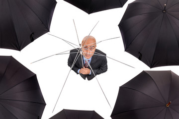 Businessman without shelter