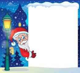 Frame with Santa Claus theme 5