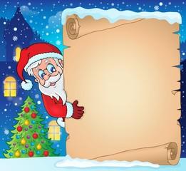 Winter parchment Christmas theme 1