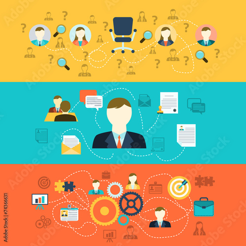 Human resources banners - 74366631