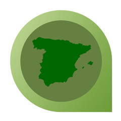Isolated Spain map marker pin