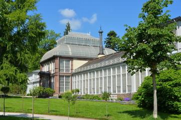 Das große Gewächshaus im Bergpark in Kassel Wilhelmshöhe