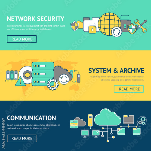 Network Banners Set - 74367067