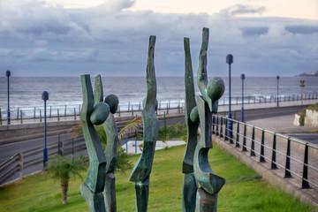 la rama sculpture, Puerto de las Nieves - Agaete (Gran Canaria)