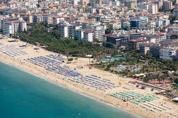 Alanya - the beach of Cleopatra .  Turkey