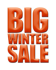 Big Winter Sale text in red on white background.