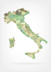 Low Poly Map of Italy