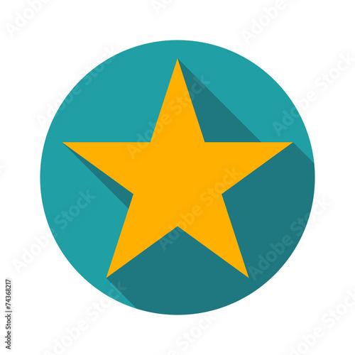star icon long shadow flat design vector illustration - 74368217