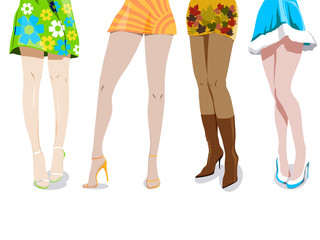 The Four Seasons - woman's legs