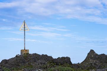 海岸の標識