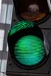 canvas print picture - Verkehrsampel mit grünem Licht