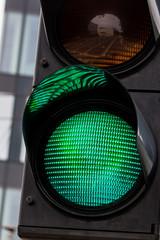 Verkehrsampel mit grünem Licht