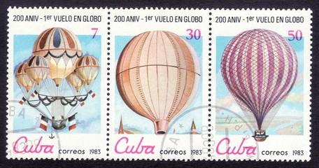 Почтовые марки Куба 1983 год воздушные шары