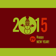 Flat Design Concepts For Happy New Year