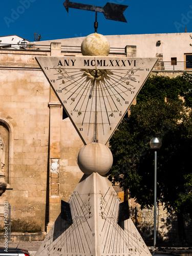 canvas print picture Sonnenuhr in Palma, Mallorca