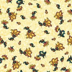 textile flower pattern