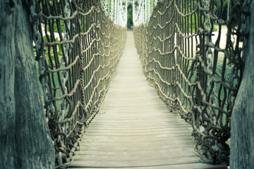 Sentosa rope bridge