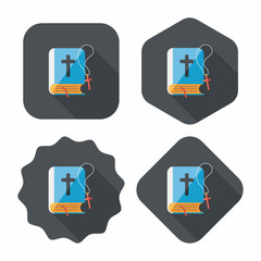 bible flat icon with long shadow,eps10