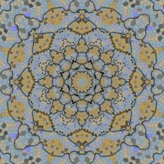 Retro snake skin kaleidoscope